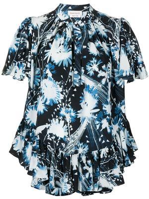 Floral Print Silk Shirt