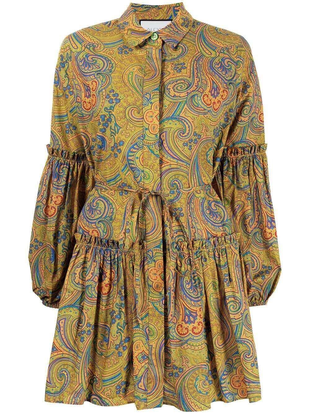 Zamata Long Sleeve Pleated Hem Dress
