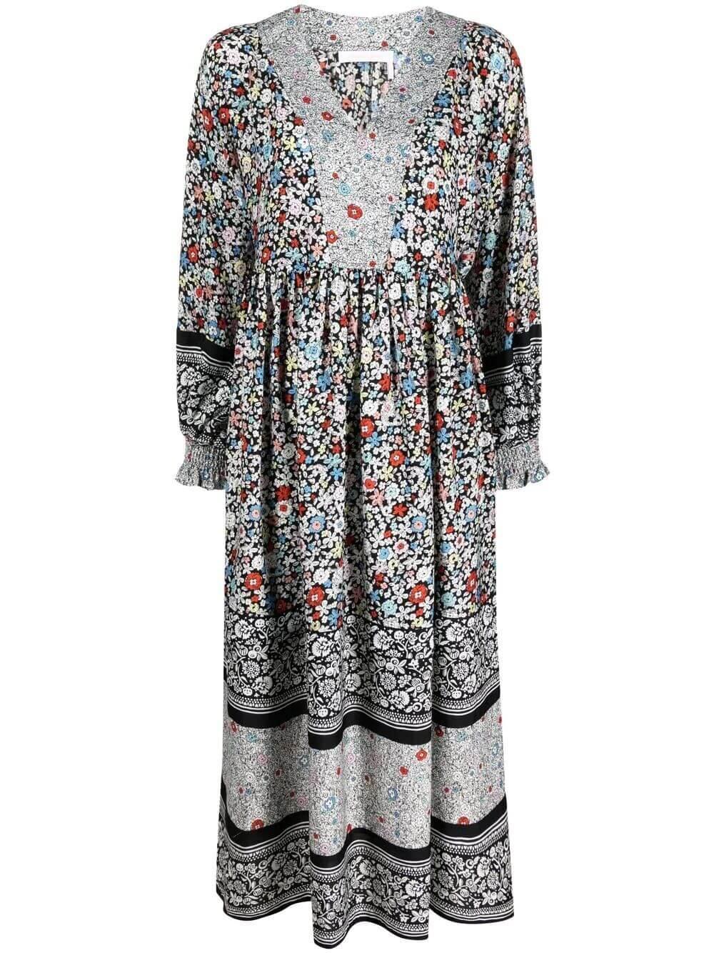 Janis Patchwork Midi Dress