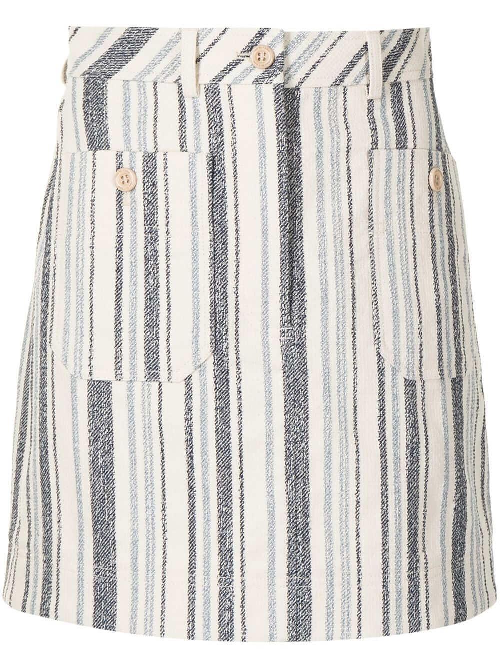 Striped Mini Skirt Item # CHS21UJU04032