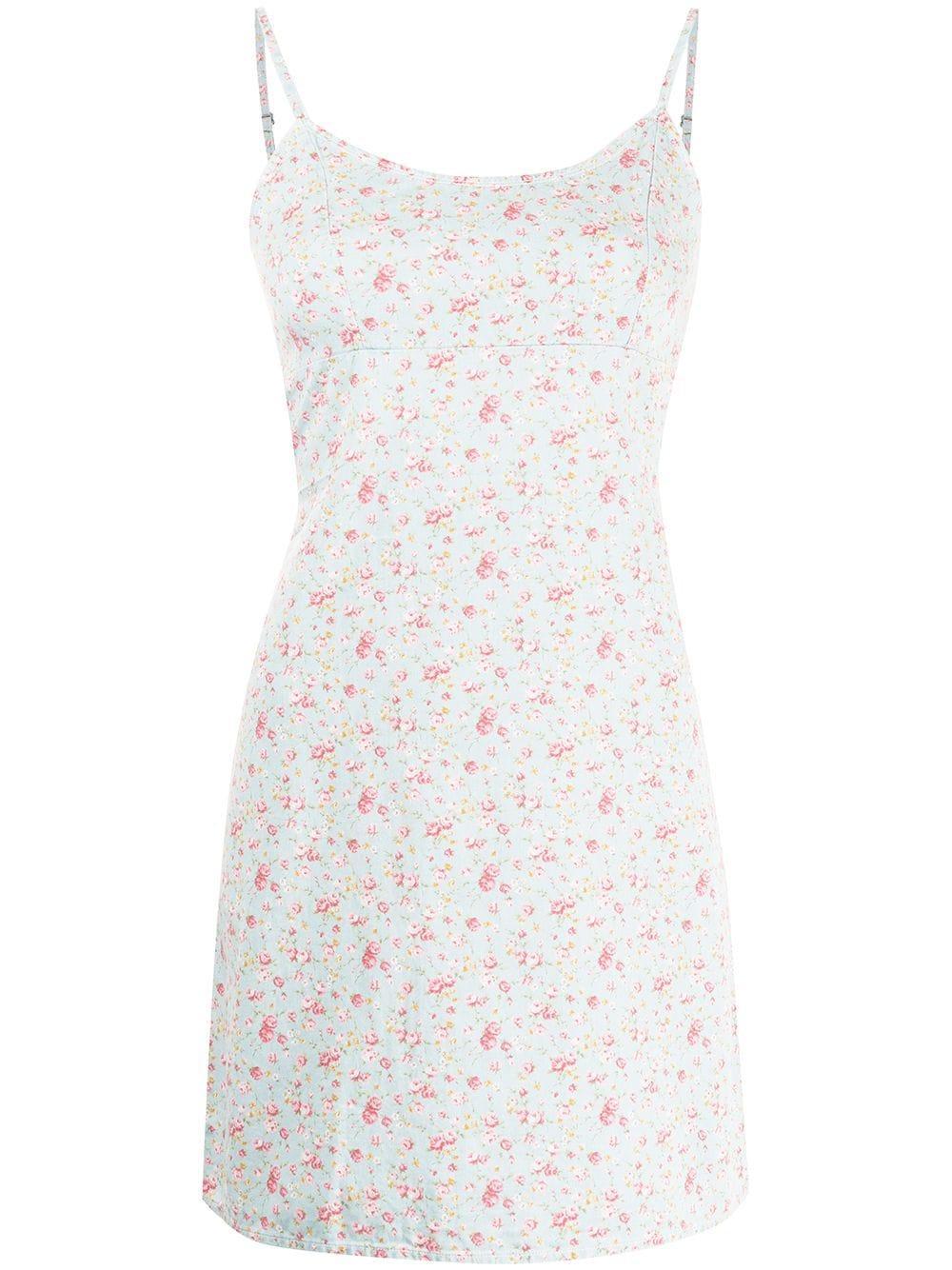 Floral Print Mini Dress Item # DSW7227-D14