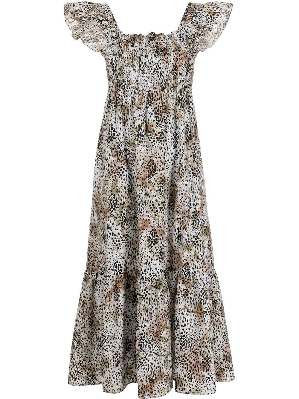 Lana Animal Print Midi Dress