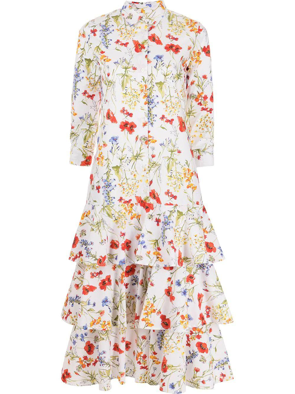 Wild Flower Tiered Dress