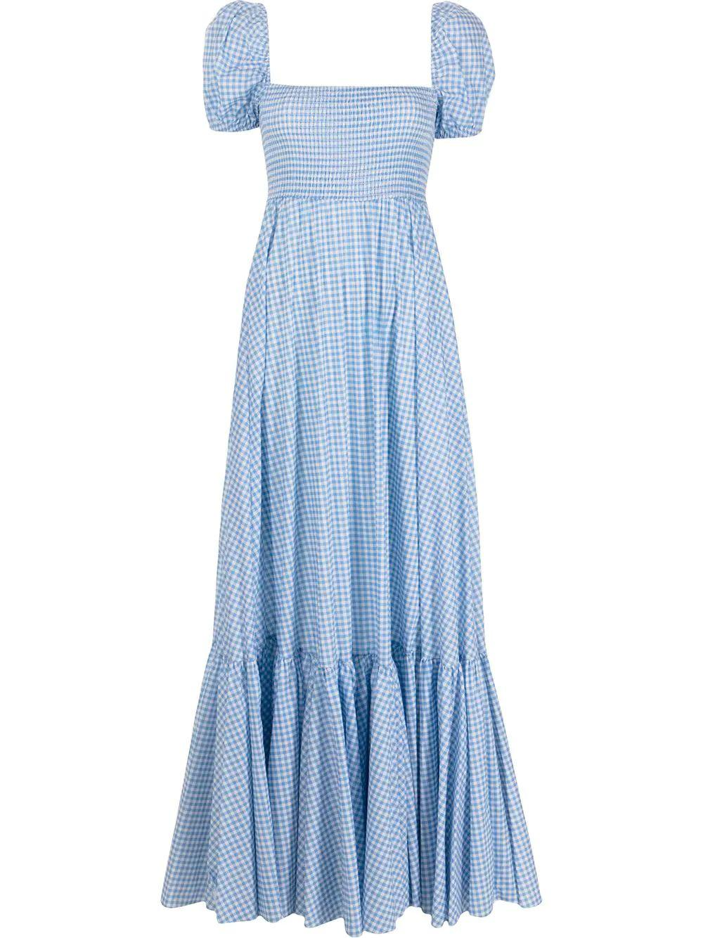 Gianna Gingham Maxi Dress
