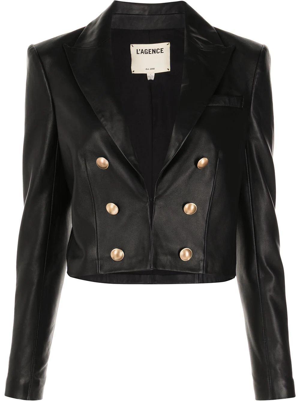 Inez Leather Blazer