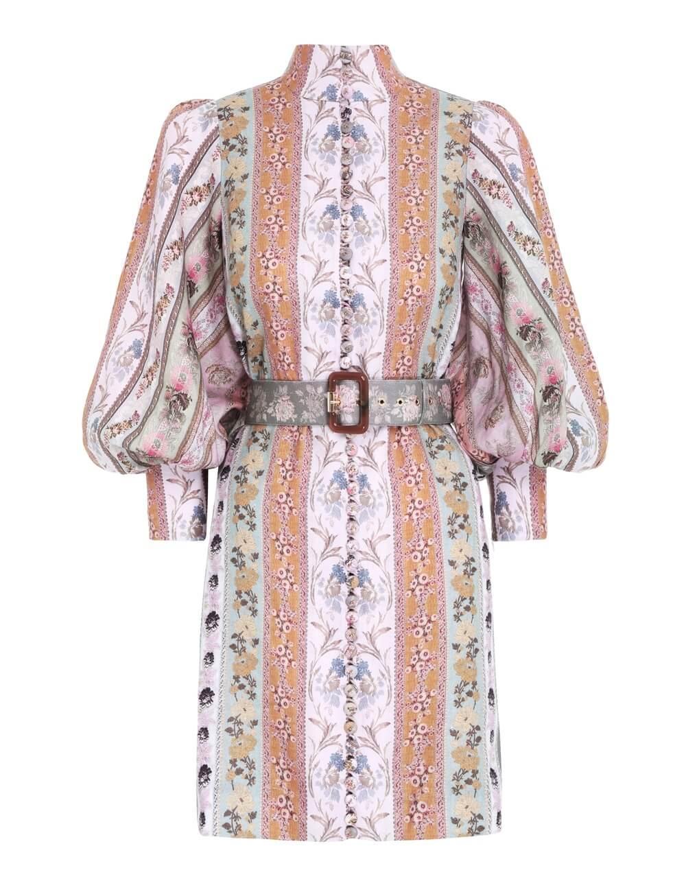 Luminous Mixed Ribbon Mini Dress Item # 1278DLMI