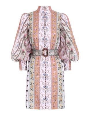 Luminous Mixed Ribbon Mini Dress