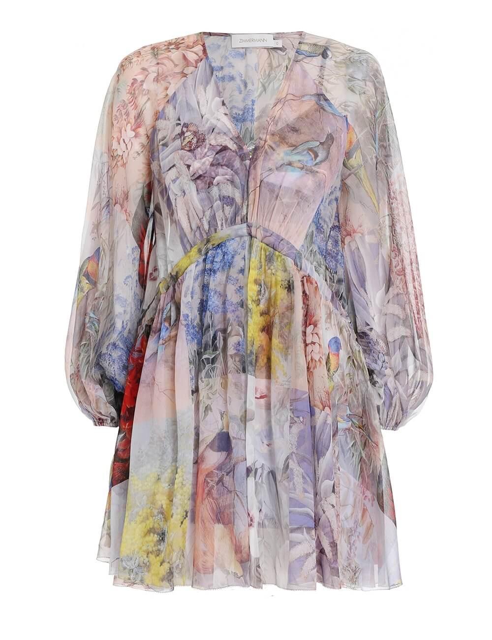 Luminous Side Tie Mini Dress