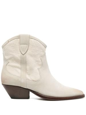 Demar Canvas and Leather Bootie