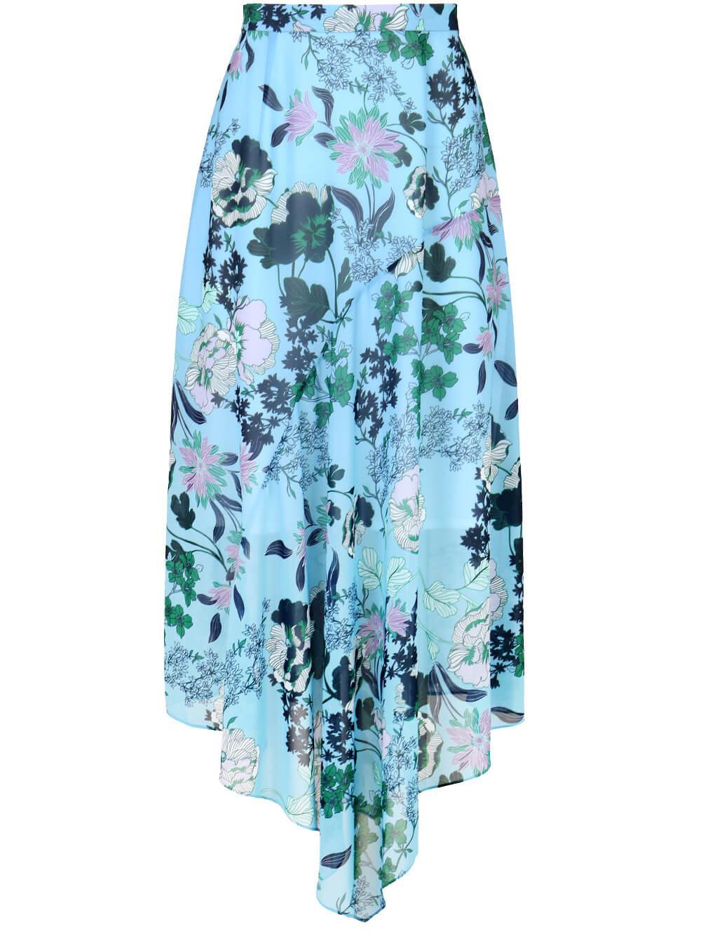 Asymmetrical Printed Skirt Item # SKIRT029B