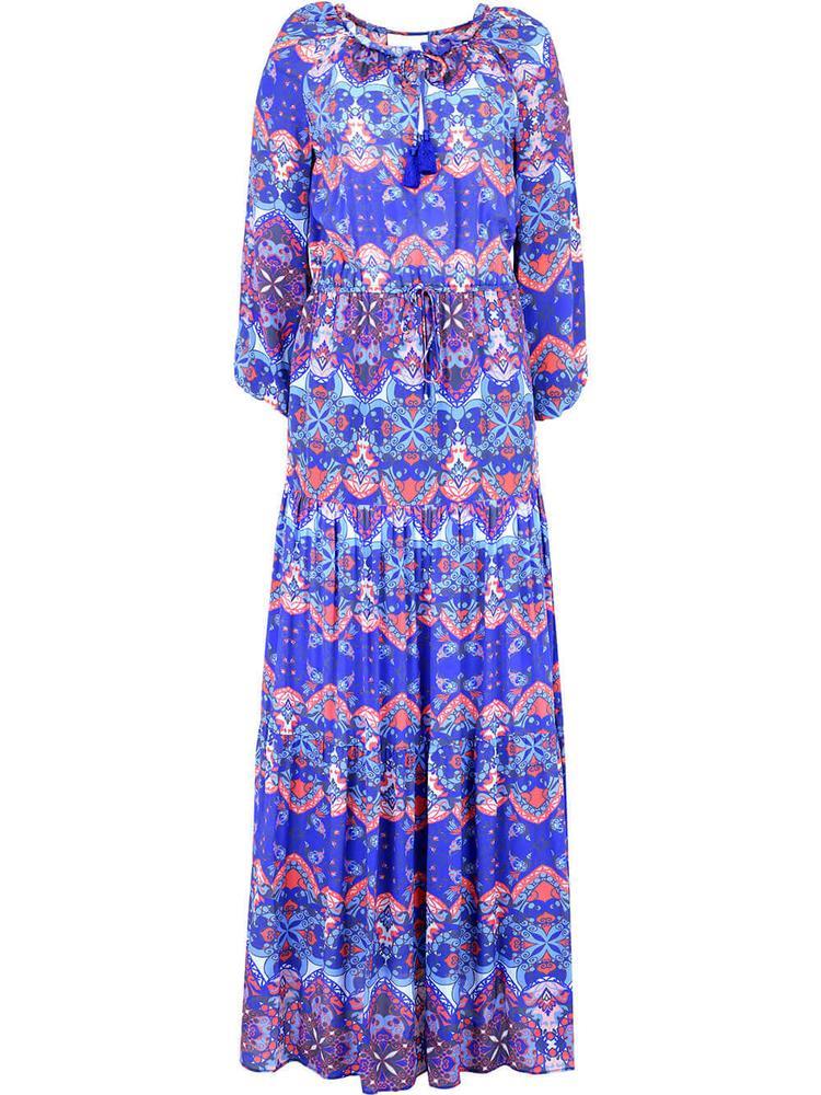 Bella Printed Maxi Dress Item # BELLA