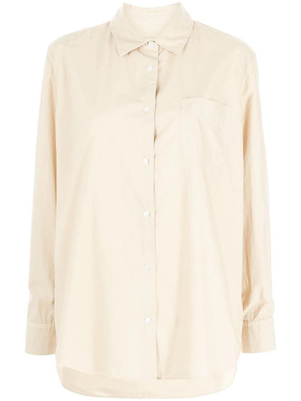 Kristen Relaxed Button Up Shirt Item # 11326-W154