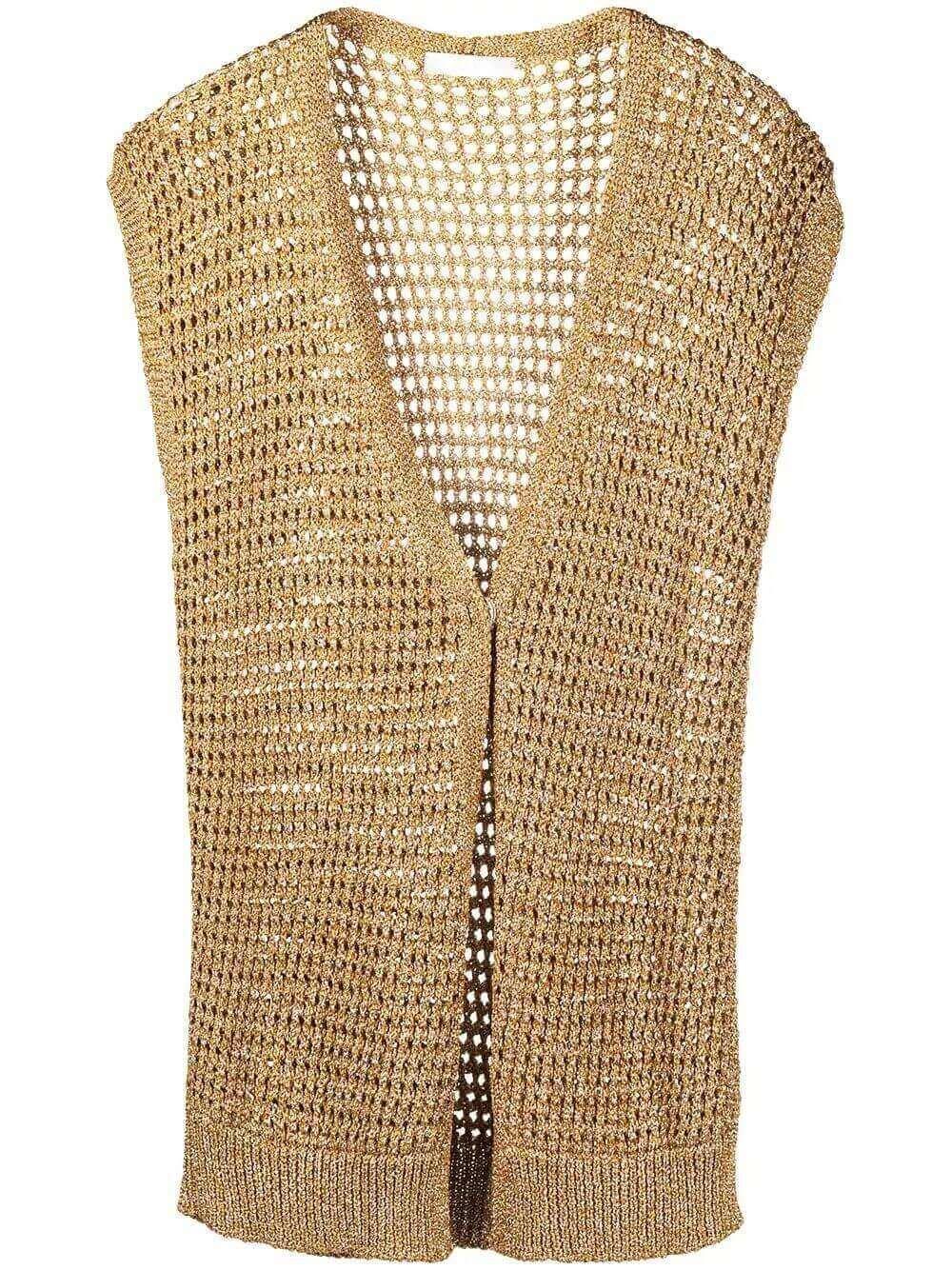 Lurex Open- Knit Vest Item # MAD271W096