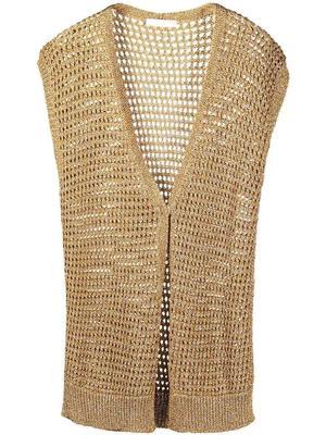 Lurex Open-Knit Vest
