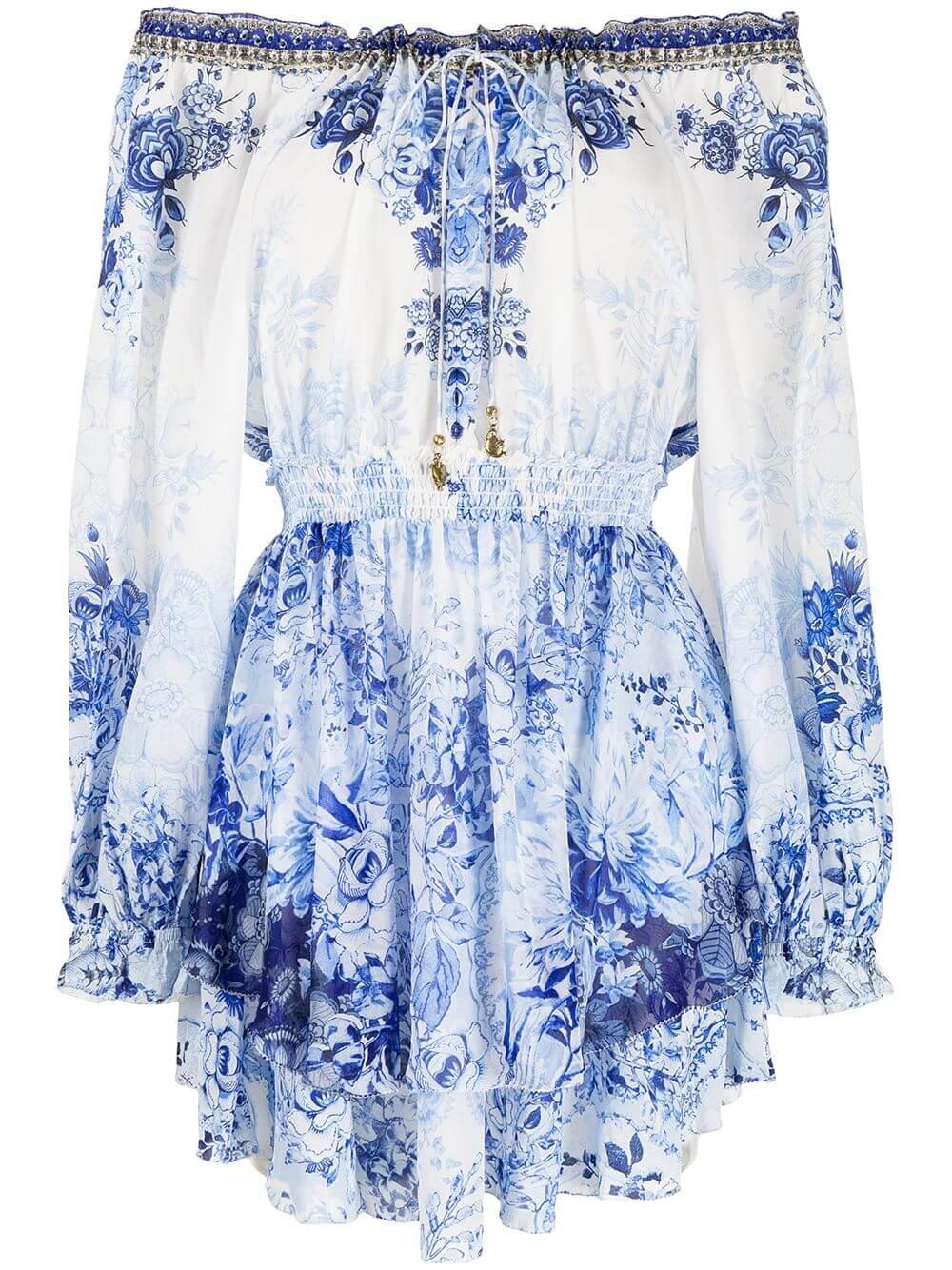 Floral Off The Shoulder Dress Item # 00009454-HIGHTEA