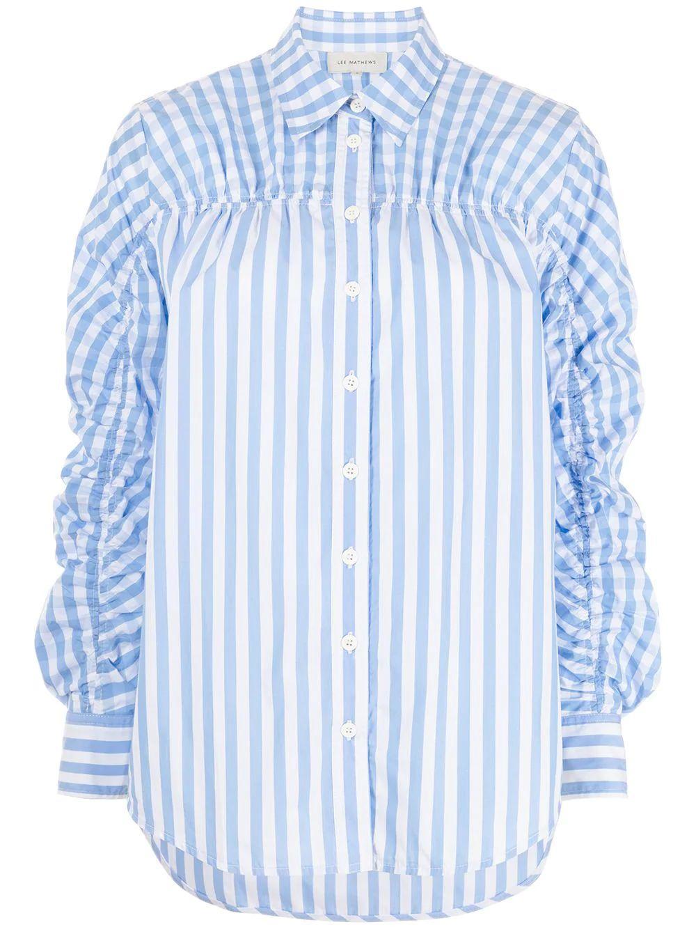 Stevie Gathered Stripe Shirt Item # M2101TO160