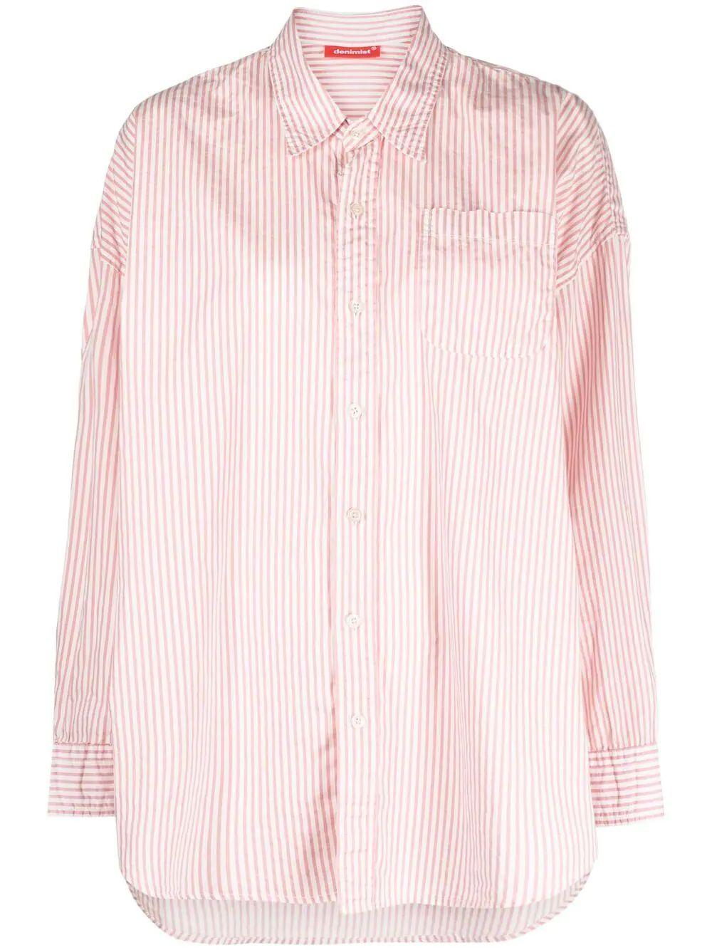 Button Front Striped Shirt Item # DSW4230-565