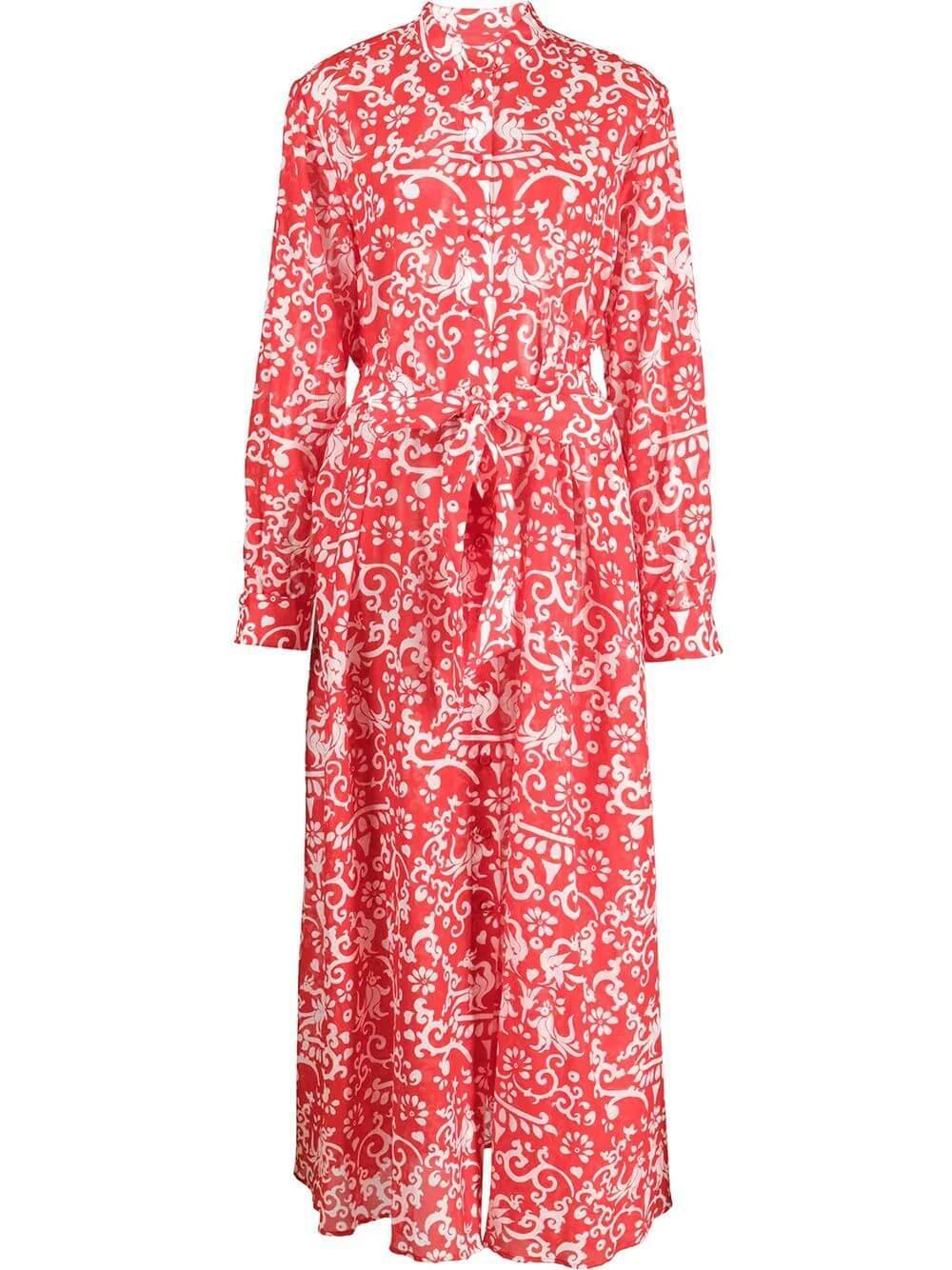 Inez Printed Midi Dress Item # 10416-S21