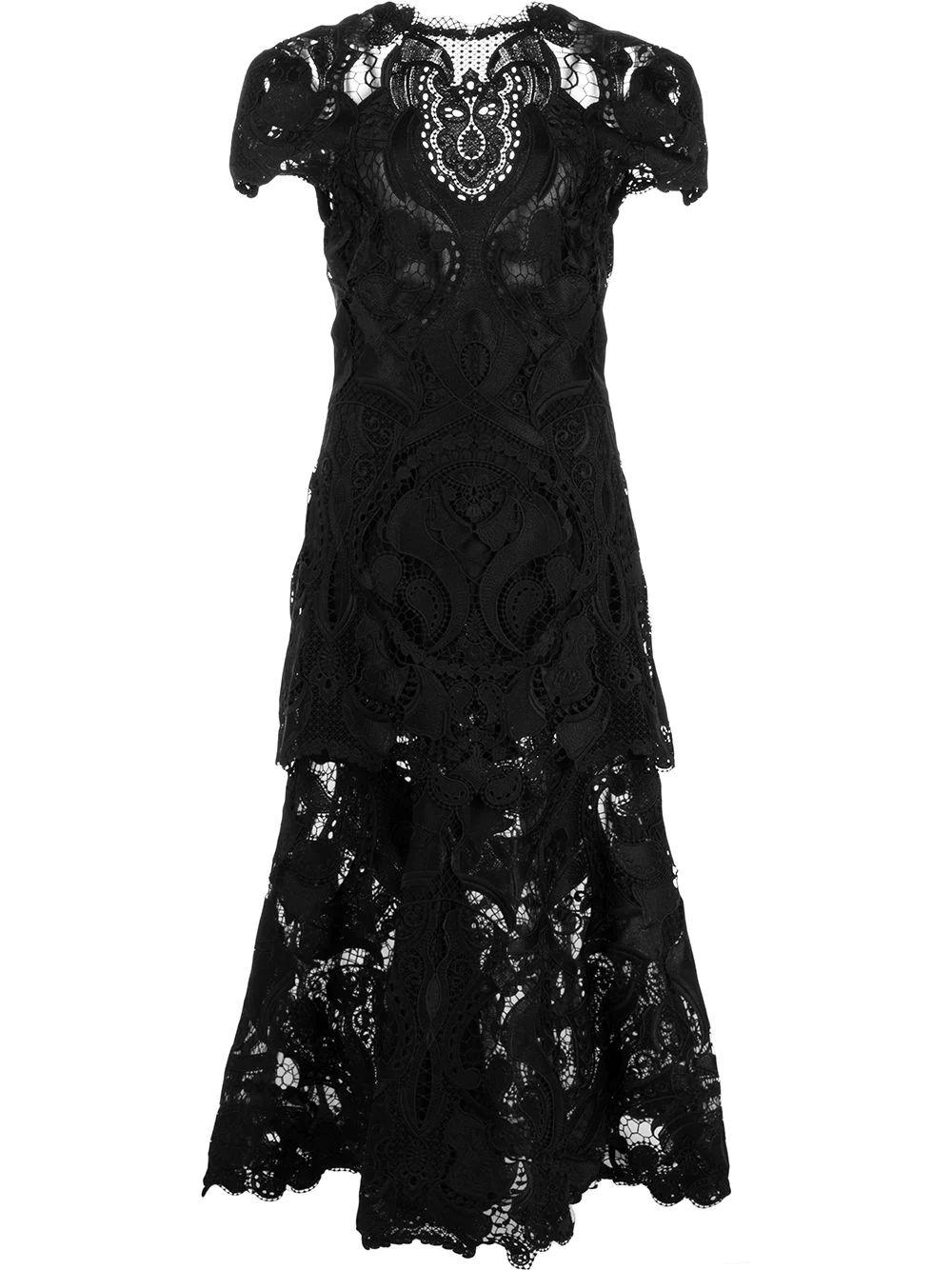 Giupure Lace Midi Dress
