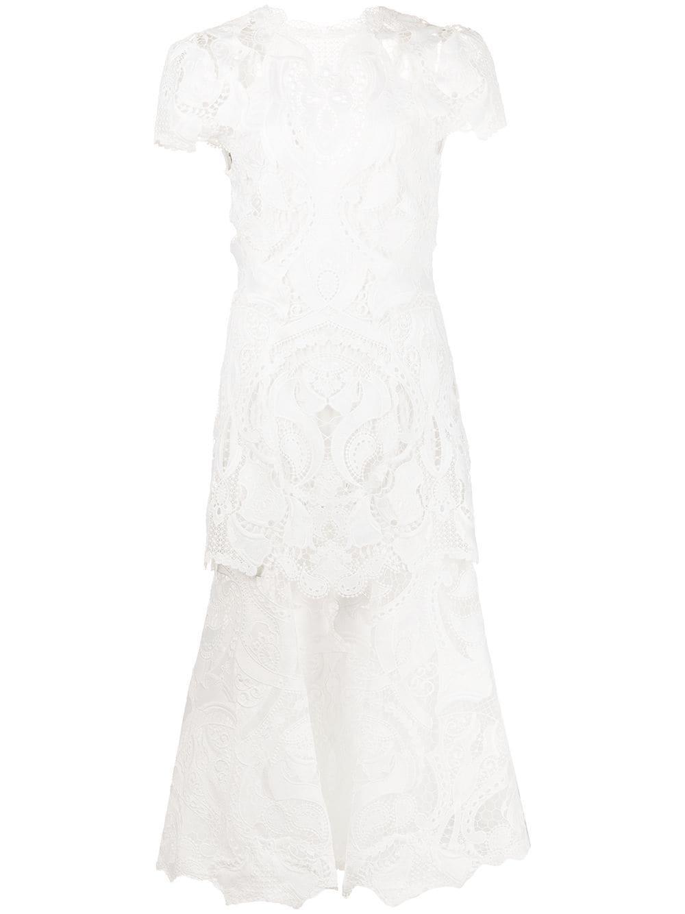 Giupure Lace Midi Dress Item # JS-1099-H