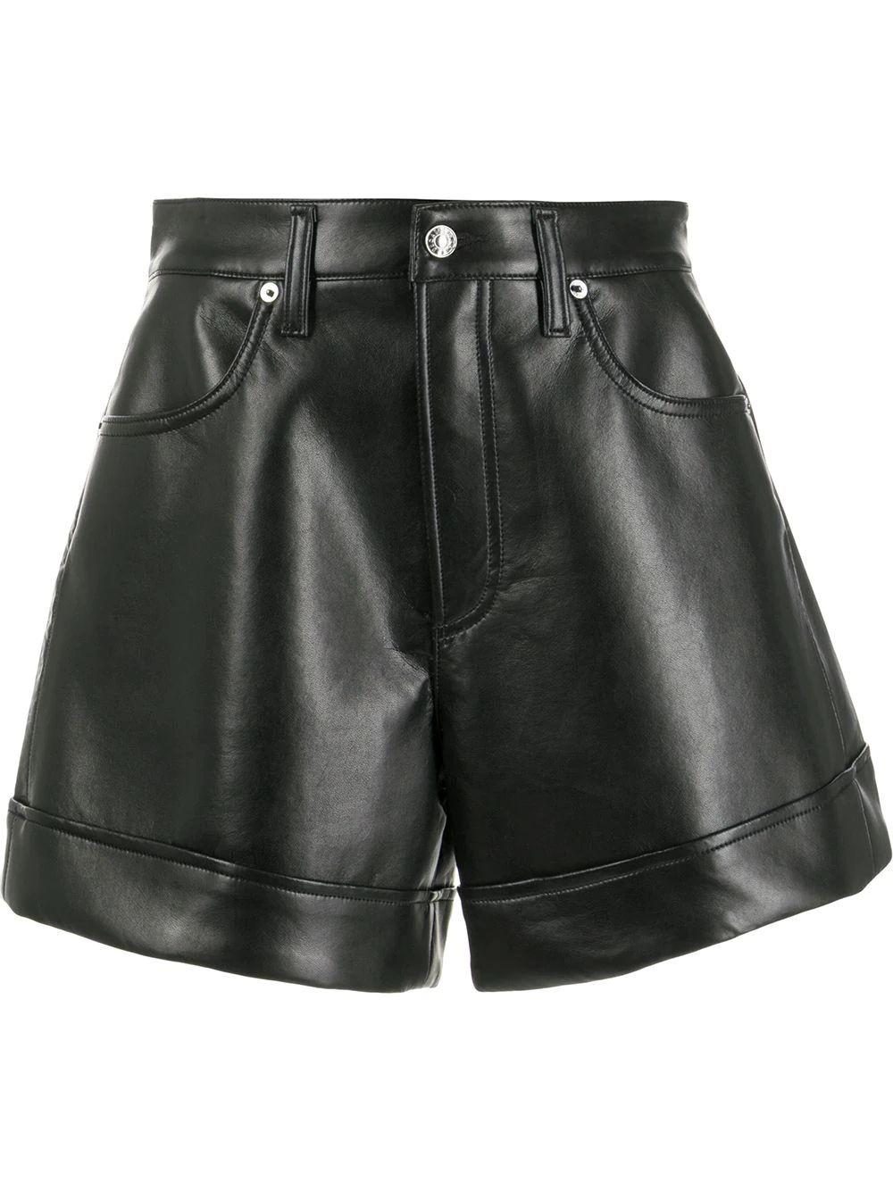 Recycled Leather Shorts