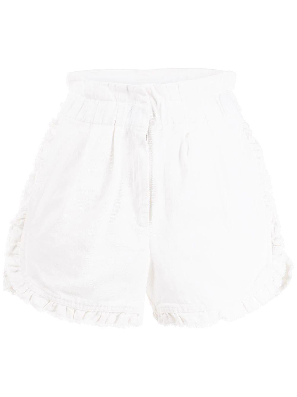 Acid Denim Ruffle Shorts Item # SS21-81