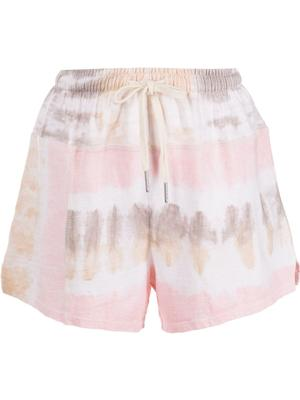 Reconstructed Tie Dye Shorts