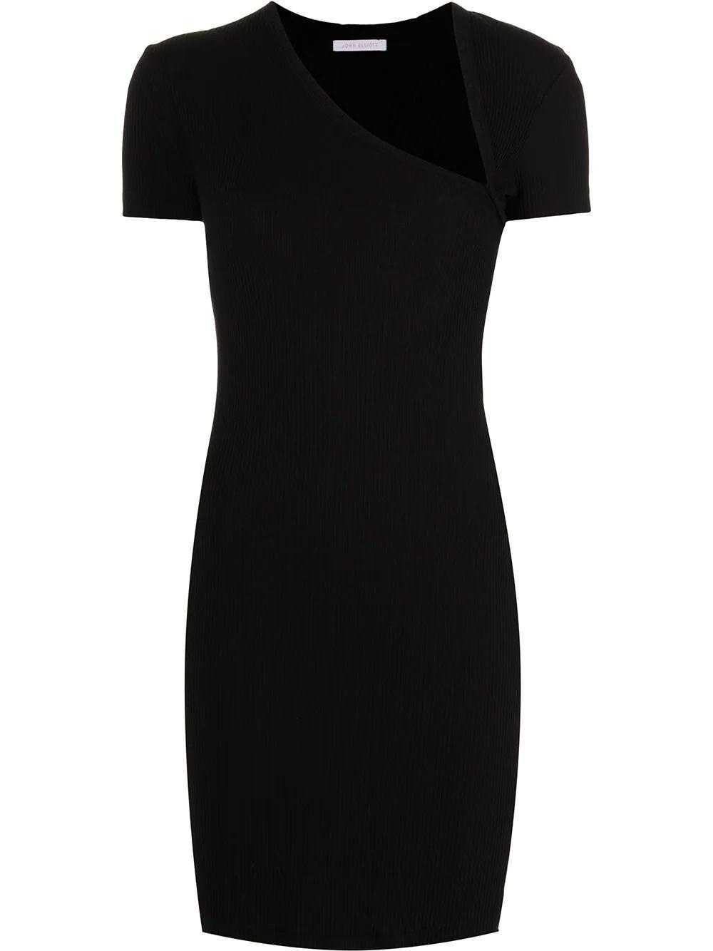 Asymmetrical Rib Knit Dress