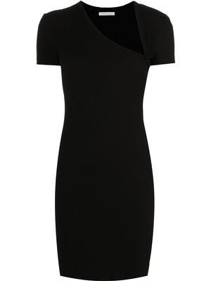Asymmetrical Rib Knit Dress