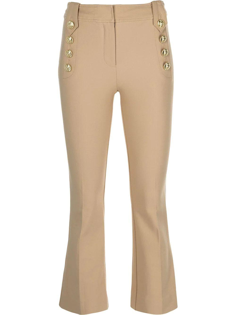 Robertson Cropped Flare Trouser Item # TS12101ACR