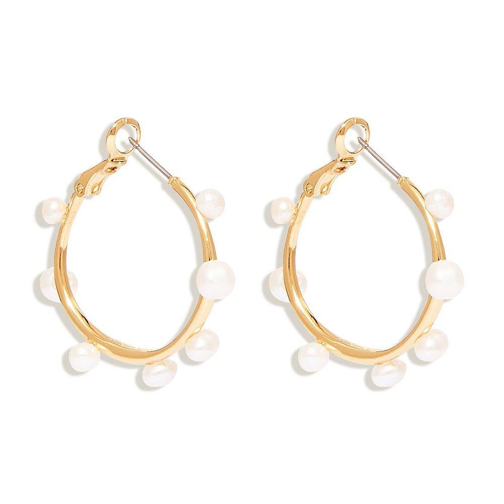 Mini Isla Pearl Hoops
