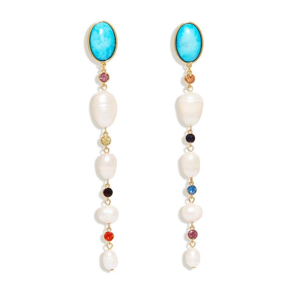 Lyford Mixed Dangle Earrings Item # E421-TQ01