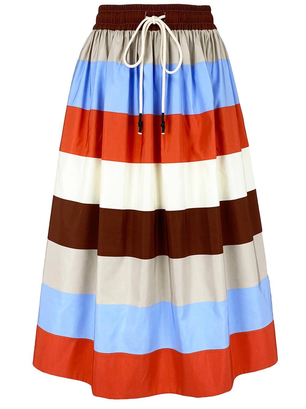 Lina Stripe Midi Skirt