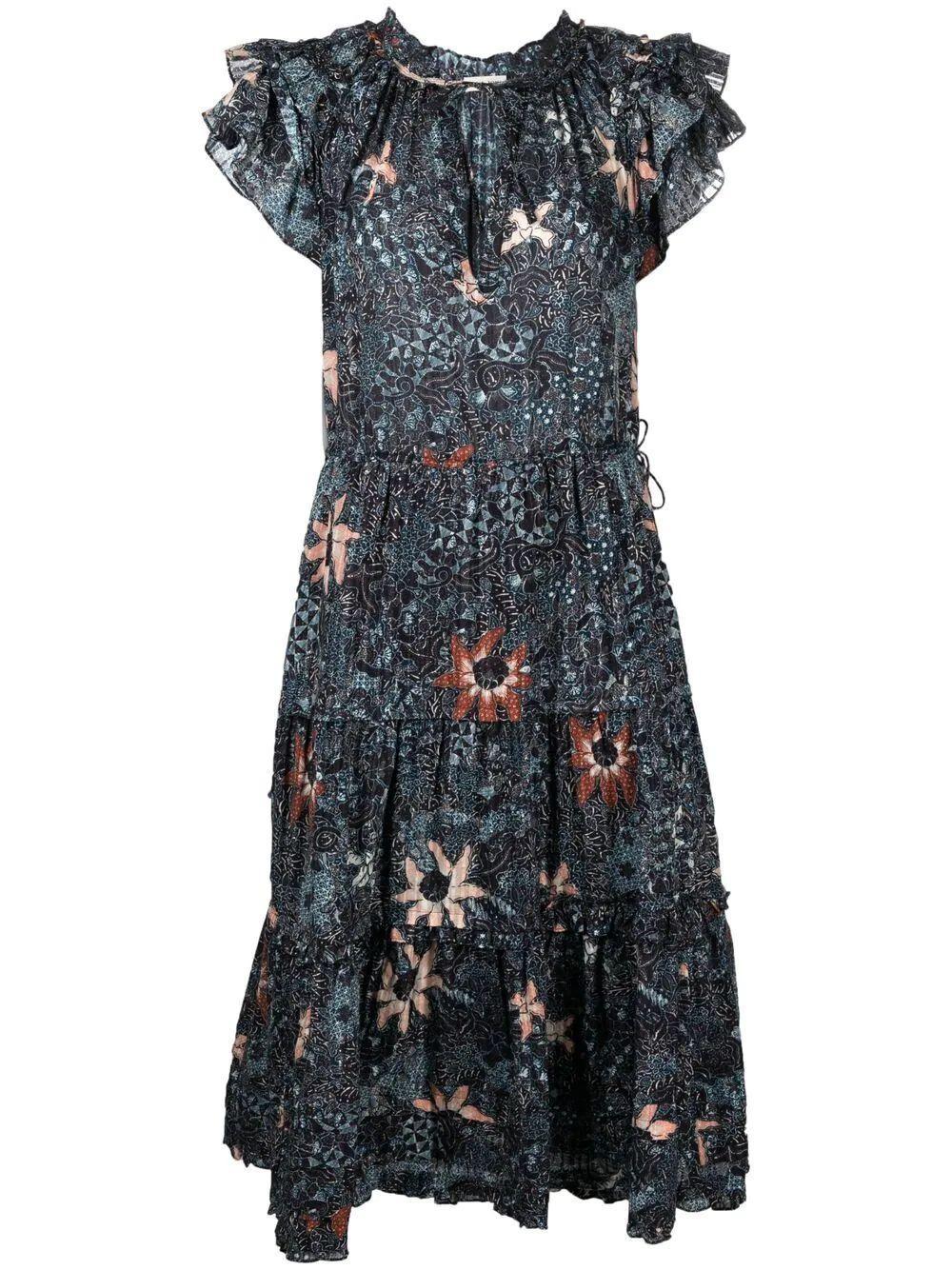 Rema Printed Midi Dress