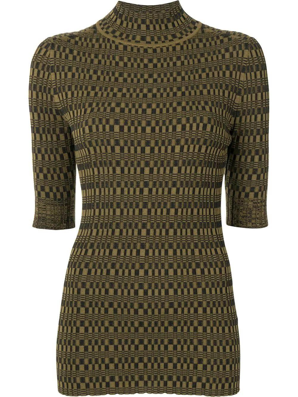 Geometric Ribbed Sweater Item # WL2127607