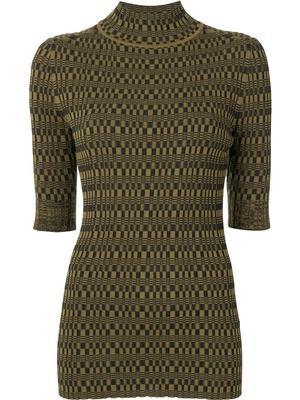 Geometric Ribbed Sweater