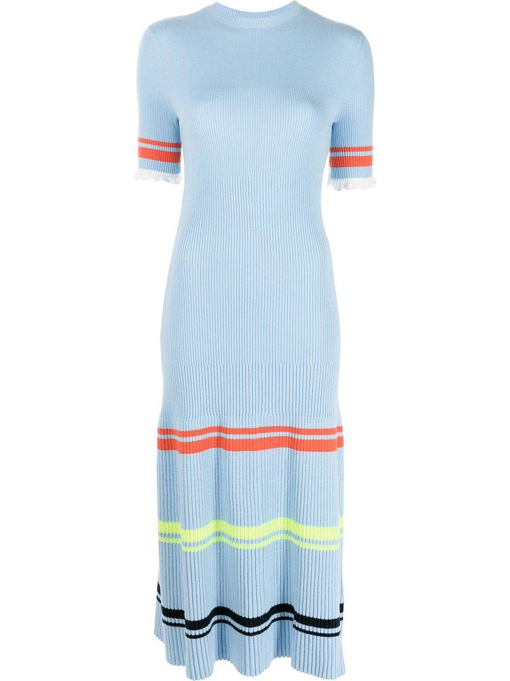 Striped Knit Summer Dress