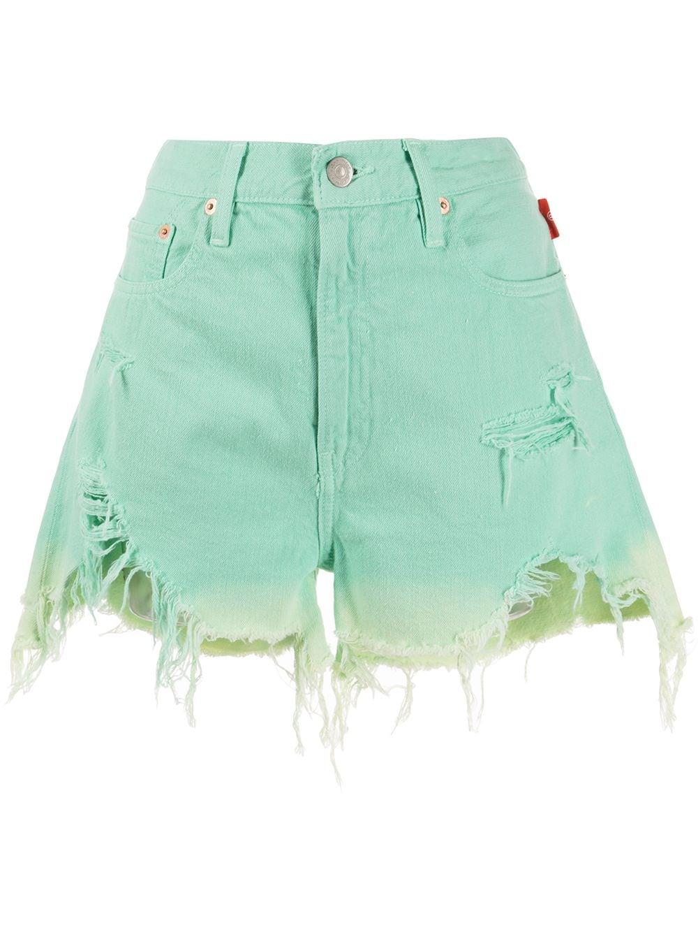 Nic Distressed Hem Cutoff Shorts Item # DSW2200-213