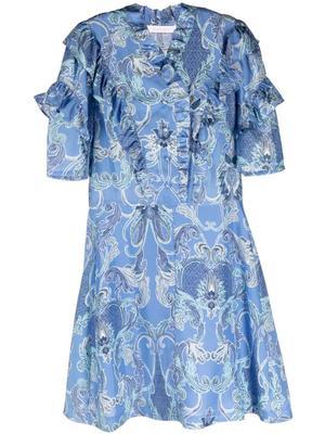Paisley Printed Silk Dress