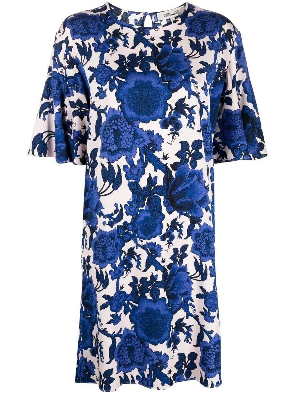 Diane Von Furstenberg Arlene Floral Shift Dress