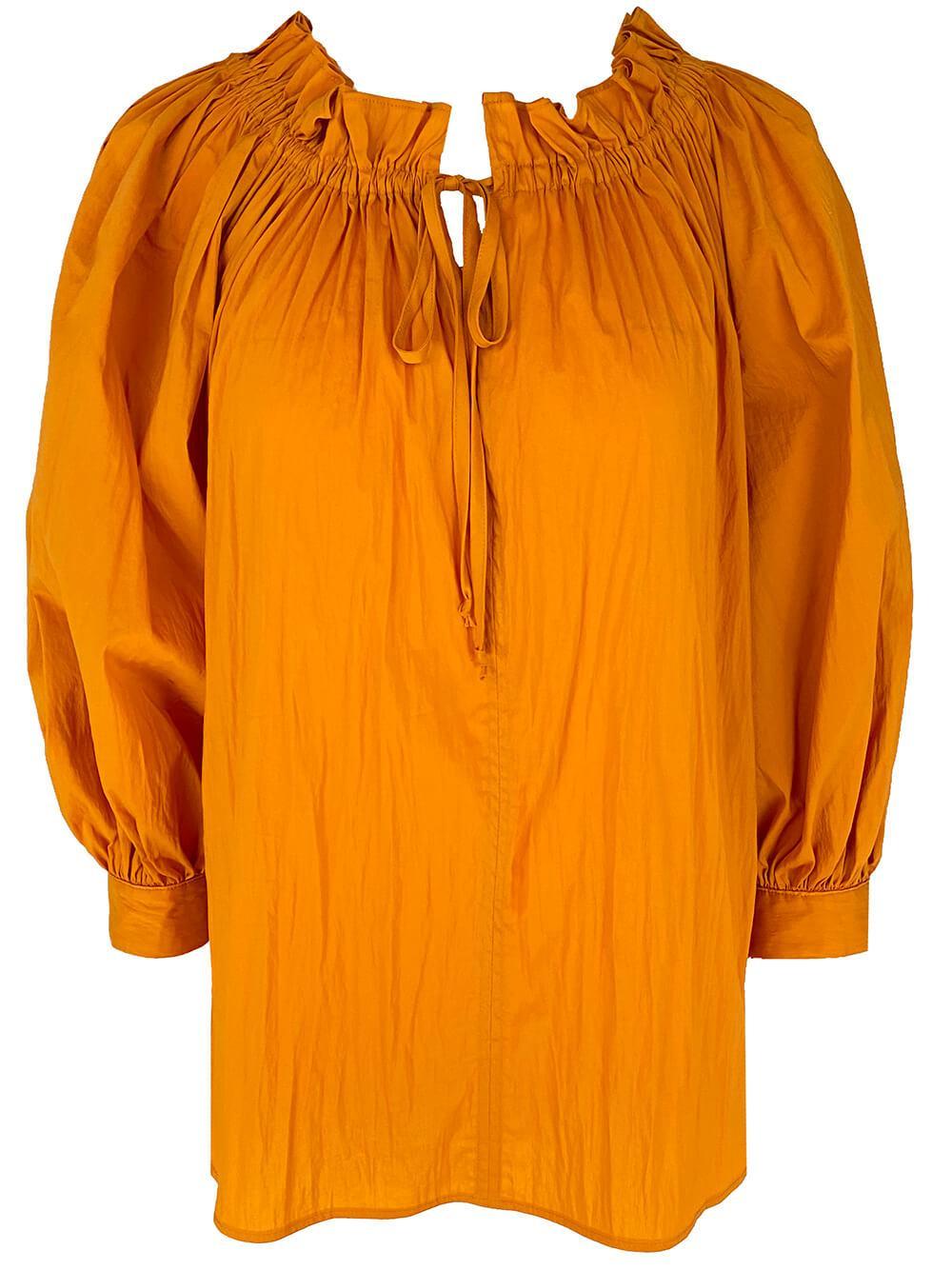 Raven Tie Neck Poplin Shirt Item # 1413-S21