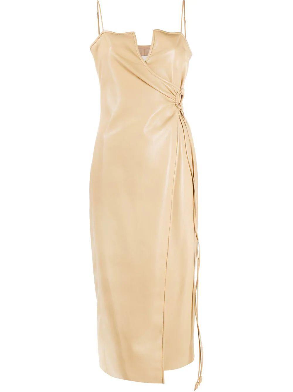 Anubi Leather Wrap Dress Item # NW21SSDR03473