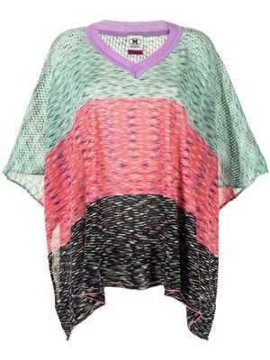 Color-Block Poncho
