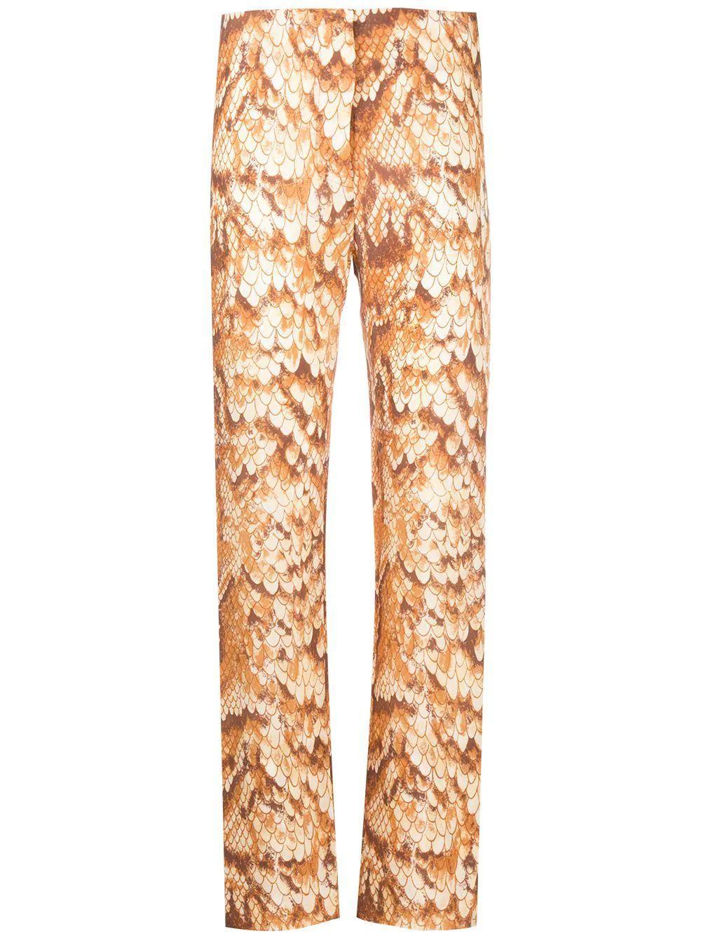 Tabbie Snake Print Pants