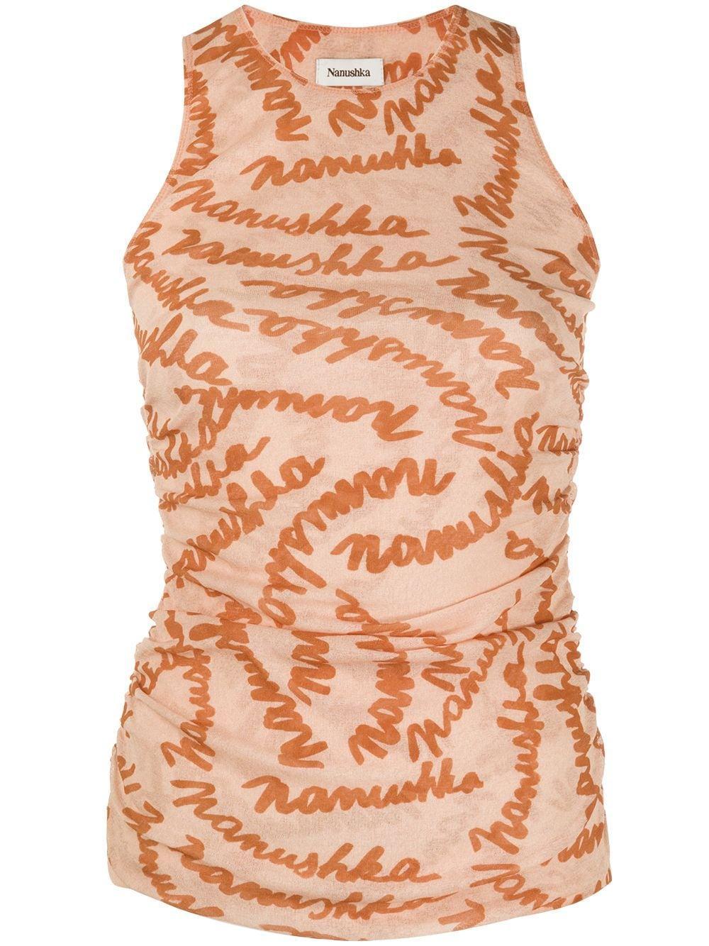 Fifi Scribble Logo Tank Top Item # NW21SSTP03516