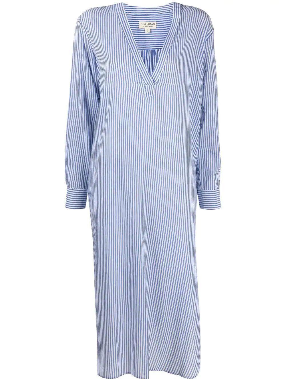 Raven Striped Midi Dress