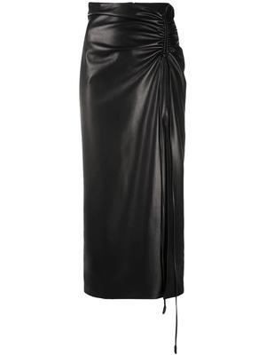 Malorie Faux Leather Midi Skirt