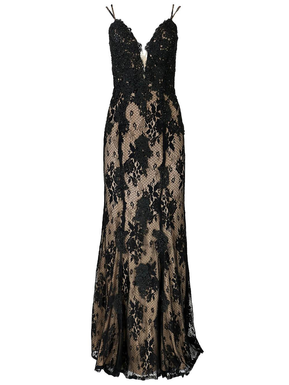 Lace Embellished Gown