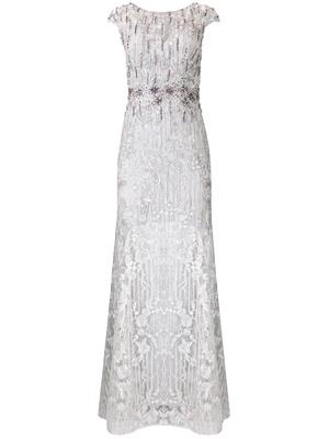 Cap Sleeve Embellished Gown