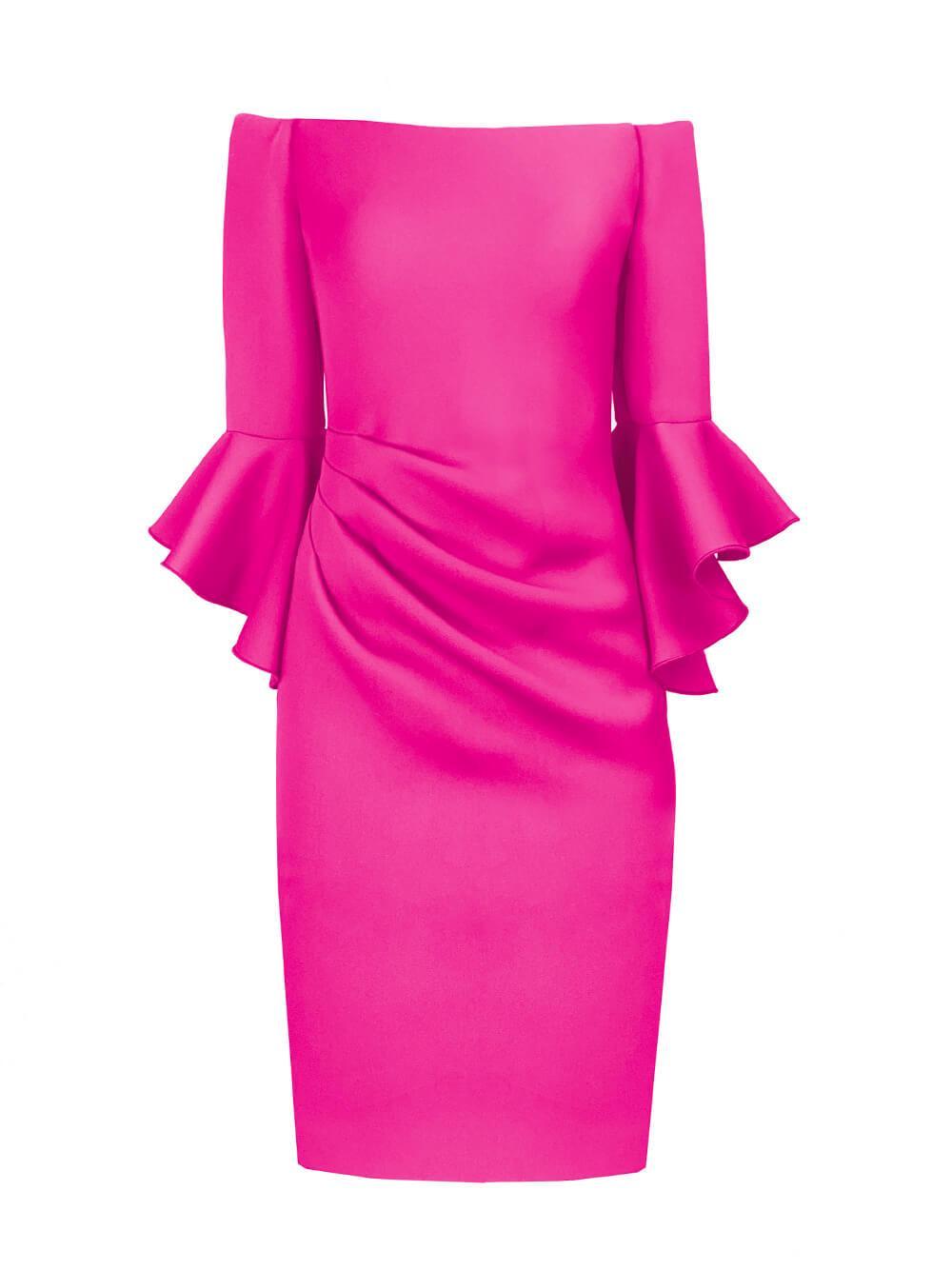 Scuba Bell Sleeve Dress